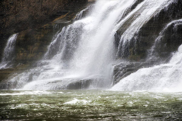 Ithaca Print featuring the photograph Ithaca Falls On Fall Creek - Mountain Showers by Christina Rollo