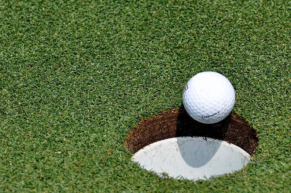 Golf Print featuring the photograph It's In The Hole by Shawn Wood
