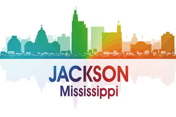 Jackson Art Print featuring the digital art Jackson Ms by Angelina Vick