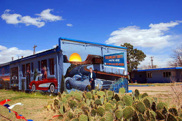 Route 66 Art Print featuring the photograph James Dean Was Here Too by Susanne Van Hulst