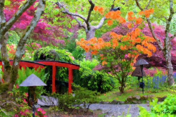 Japanese Garden Art Print featuring the photograph Japanese Gardens by Nancy Morgantini