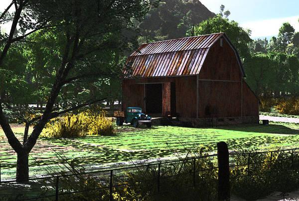 West Virgina Country Roads Mountain Mama Art Print featuring the digital art Jim Bob's Barn by Steven Palmer