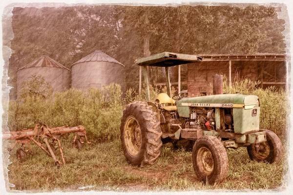 2440 Print featuring the photograph John Deere Antique by Debra and Dave Vanderlaan