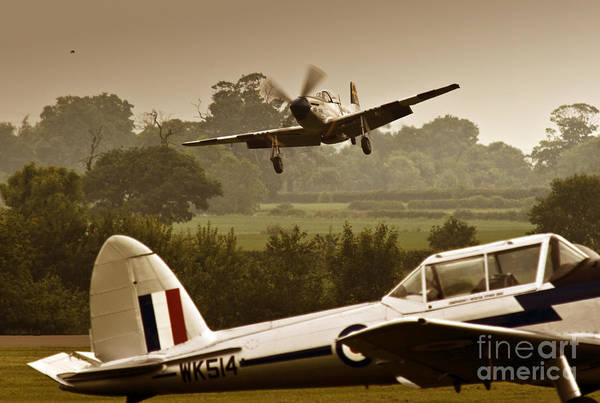 Aircraft Art Print featuring the photograph Just Before Landing by Angel Ciesniarska
