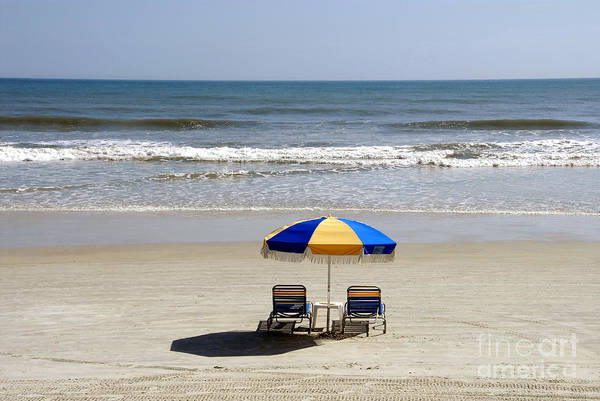 Beach Art Print featuring the photograph Just The Two Of Us by David Lee Thompson