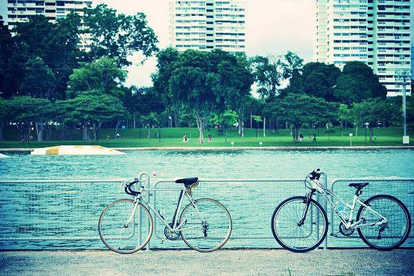 Bike Art Print featuring the photograph Just The Two Of Us by Susette Lacsina