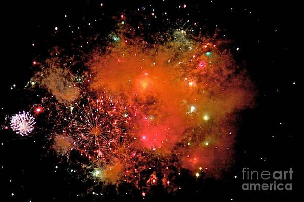 Fire Works Art Print featuring the photograph Ka Boom by Robert Pearson