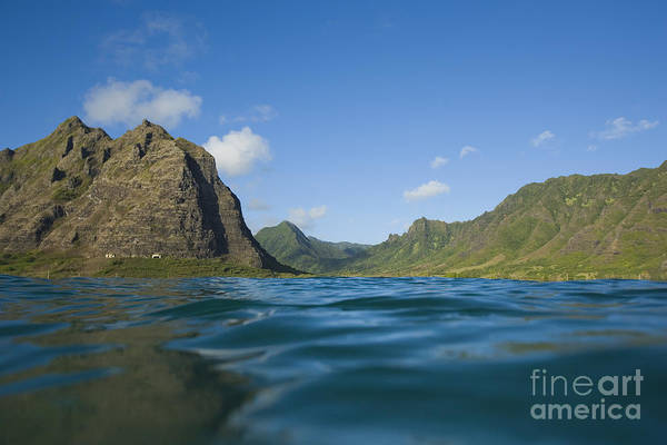 Adventure Art Print featuring the photograph Kaaawa Valley From Ocean by Dana Edmunds - Printscapes