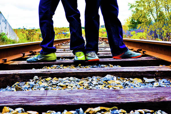 Train Art Print featuring the photograph Kindred Ties by Ragina Kakos