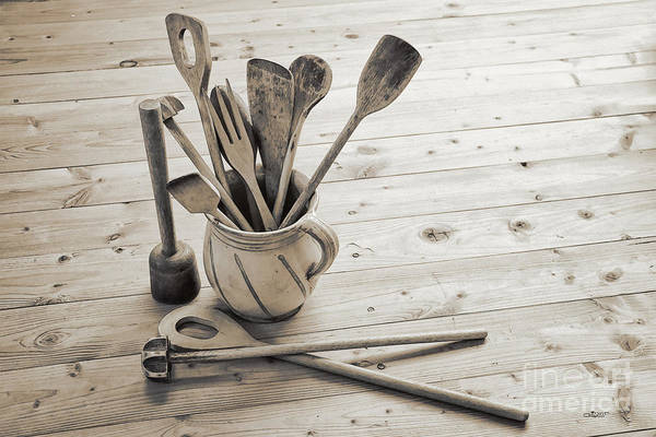 Photo Art Print featuring the photograph Kitchen Utensils by Jutta Maria Pusl