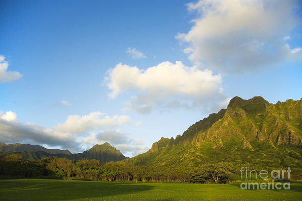 Bright Art Print featuring the photograph Kualoa Ranch by Dana Edmunds - Printscapes