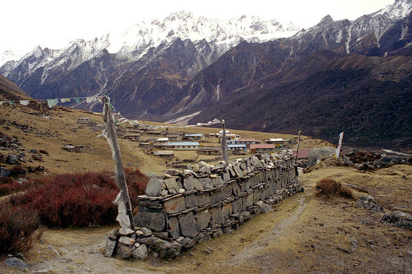 Langtang Art Print featuring the photograph Kyanjin Gompa by Patrick Klauss