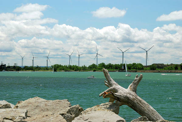 Wind Turbines Art Print featuring the photograph Lackawanna Wind Farm 5079 by Guy Whiteley