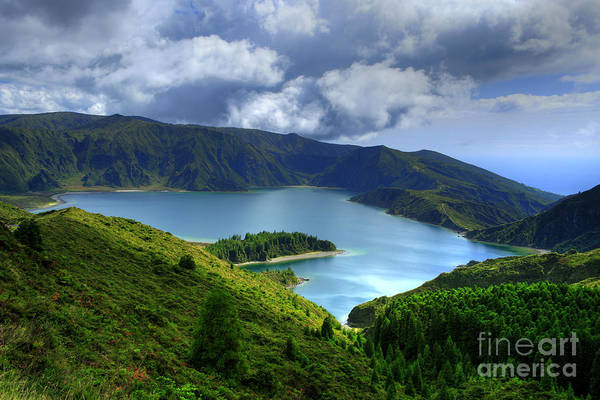 Azores Art Print featuring the photograph Lake In The Azores by Gaspar Avila