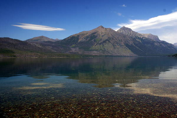 Landscape Art Print featuring the photograph Lake Mcdonald Reflection Glacier National Park 2 by Marty Koch