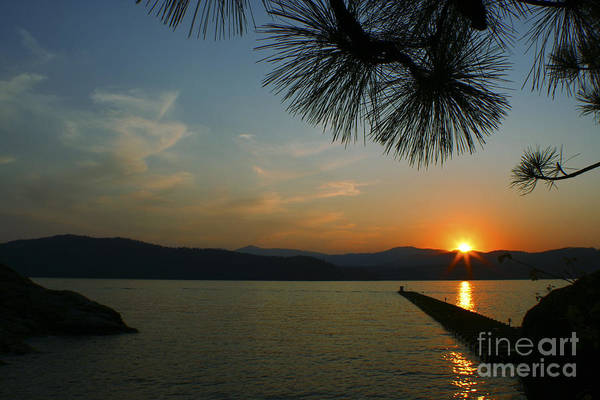 Sunset Art Print featuring the photograph Lake Sunset by Idaho Scenic Images Linda Lantzy