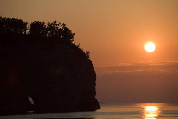 Lake Art Print featuring the photograph Lake Superior Sunset by Sebastian Musial