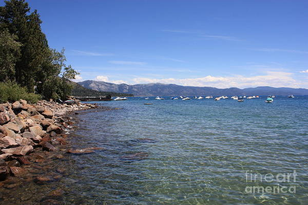 Lake Tahoe Art Print featuring the photograph Lake Tahoe Waterscape by Carol Groenen