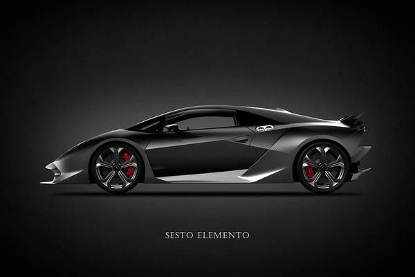 Lamborghini Sesto Elemento Art Print By Mark Rogan