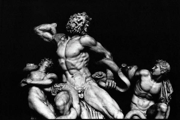 Laoco�n And His Sons Art Print featuring the photograph Laocoon And His Sons Aka Gruppo Del Laocoonte by Michael Fiorella
