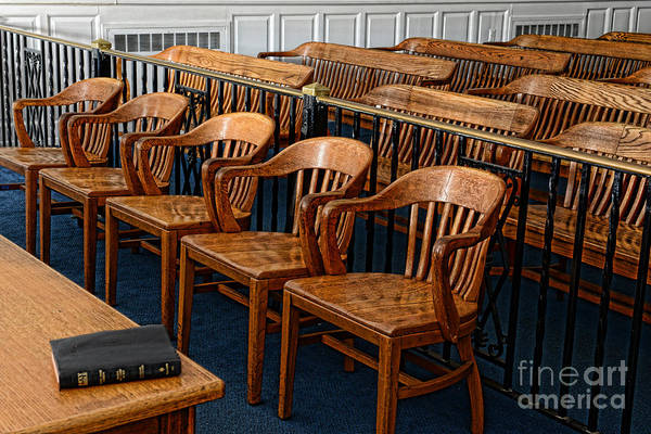 Paul Ward Print featuring the photograph Lawyer - The Courtroom by Paul Ward