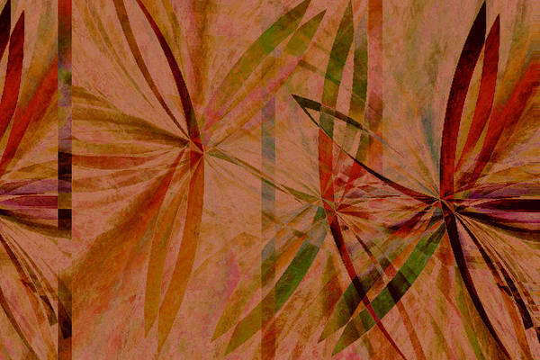 Abstract Art Print featuring the digital art Leaf Dance by Ruth Palmer