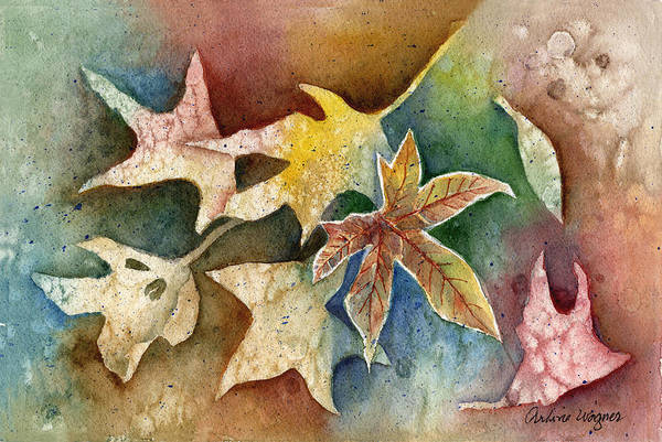 Leaf Art Print featuring the painting Leaves Of Autumn by Arline Wagner