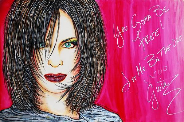 Autographed Art Print featuring the mixed media Let Me B Free And The One by Joseph Lawrence Vasile