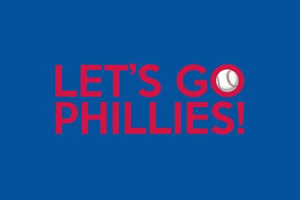 Philadelphia Phillies Art Print featuring the painting Let's Go Phillies by Florian Rodarte