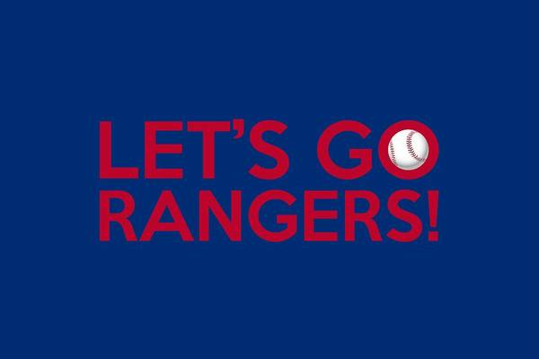 Texas Rangers Art Print featuring the painting Let's Go Rangers by Florian Rodarte