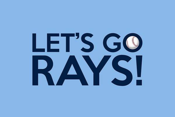 Tampa Bay Rays Art Print featuring the painting Let's Go Rays by Florian Rodarte