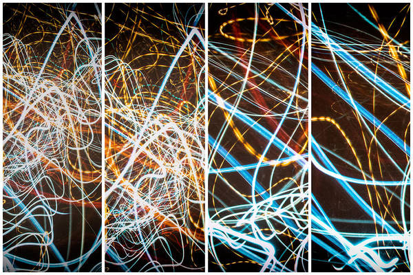 Blur Art Print featuring the photograph Lightpainting Quads Art Print Photograph 3 by John Williams