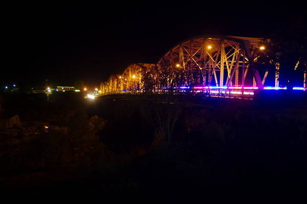 James Smullins Art Print featuring the photograph Llano Bridge At Night by James Smullins