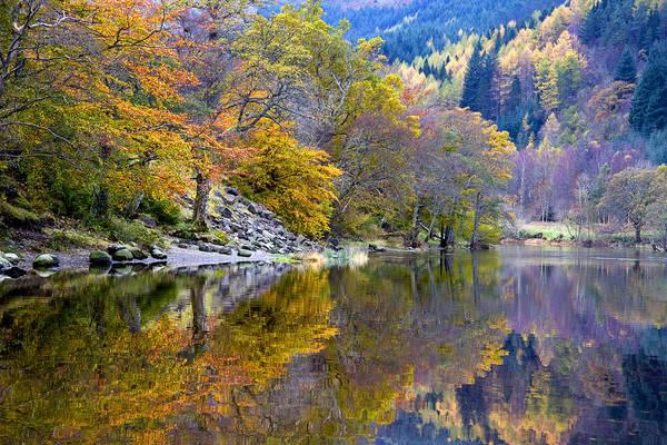 Scotland Art Print featuring the photograph Loch Lubnaig In Autumn by John McKinlay