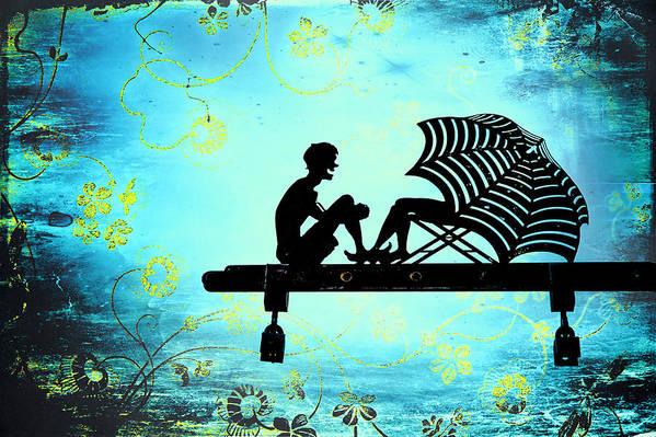 Beach Art Print featuring the photograph Locks Of Love by Evelina Kremsdorf