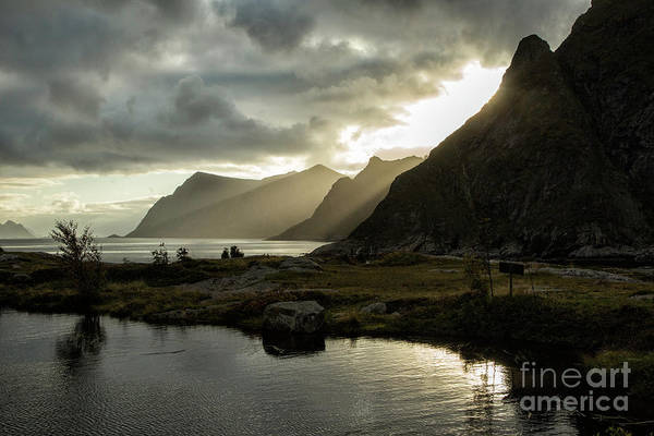 Norway Art Print featuring the photograph Lofoten Sunset 5 by Timothy Hacker