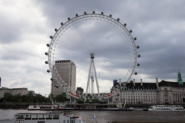 London Art Print featuring the photograph London Eye View by Piotr Kuzniar