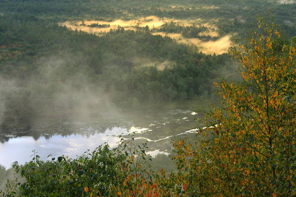 Tully River Art Print featuring the photograph Long Pond Tully River Fog by John Burk