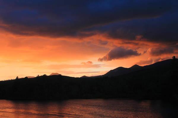 Maine Art Print featuring the photograph Longfellow Mountains Sunset by John Burk