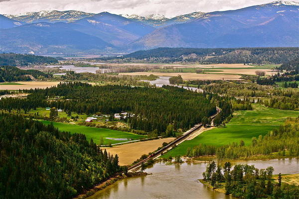 Landscape Art Print featuring the photograph Looking Toward Bonners Ferry by Diana Hatcher