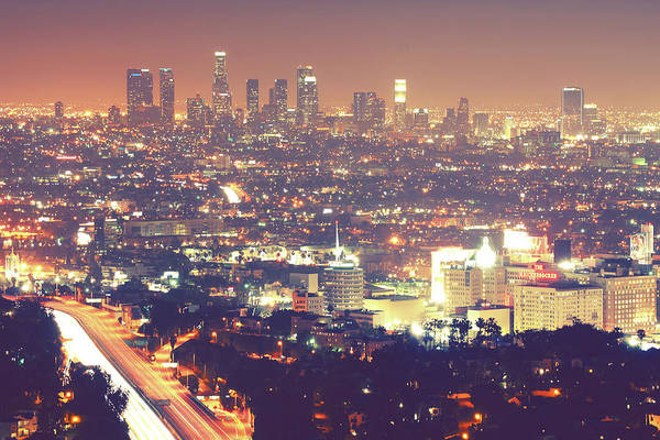 Horizontal Print featuring the photograph Los Angeles by Dj Murdok Photos