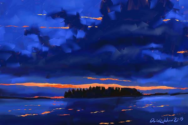 Lakeside Art Print featuring the digital art Lost Island by David Loblaw