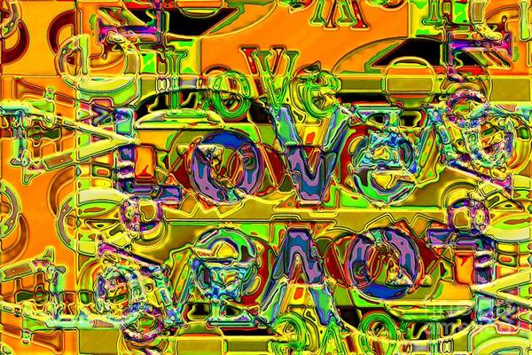 Abstract Art Print featuring the digital art Love Contest by Ron Bissett