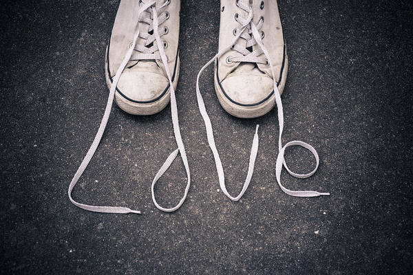 Love Art Print featuring the photograph Love Laces by Julie Ayers