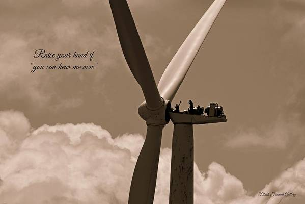 On Top Of The World And Enjoying Life To It's Fullest! Art Print featuring the photograph Loving My Work by Kurt Keller