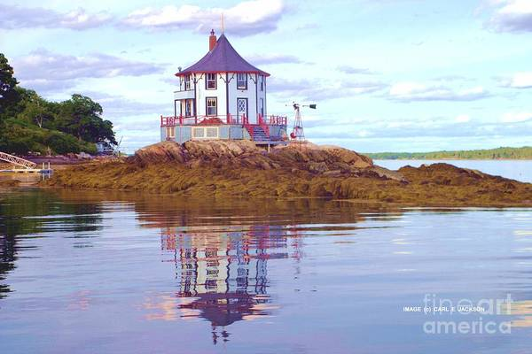 House Art Print featuring the photograph Low Tide At Nubble House by Carl Jackson