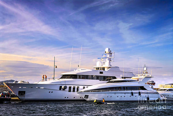 Yacht Print featuring the photograph Luxury Yachts by Elena Elisseeva