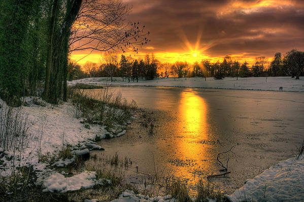 Lydiard Art Print featuring the photograph Lydiard Sunset by Terry Walters
