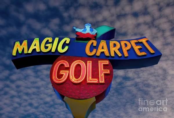 Golf Art Print featuring the photograph Magic Carpet Golf by Henry Kowalski