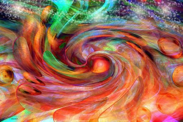 Magical Energy Art Print featuring the digital art Magical Energy by Linda Sannuti